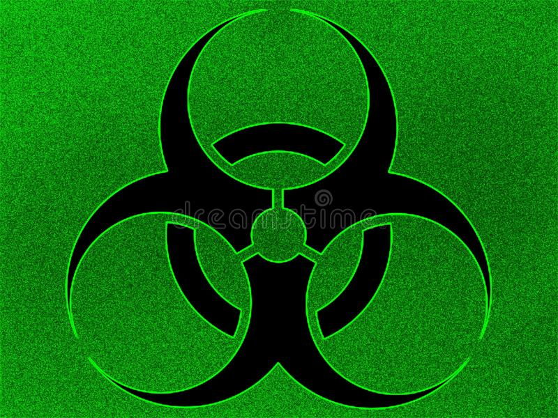 Illustration biohazard background