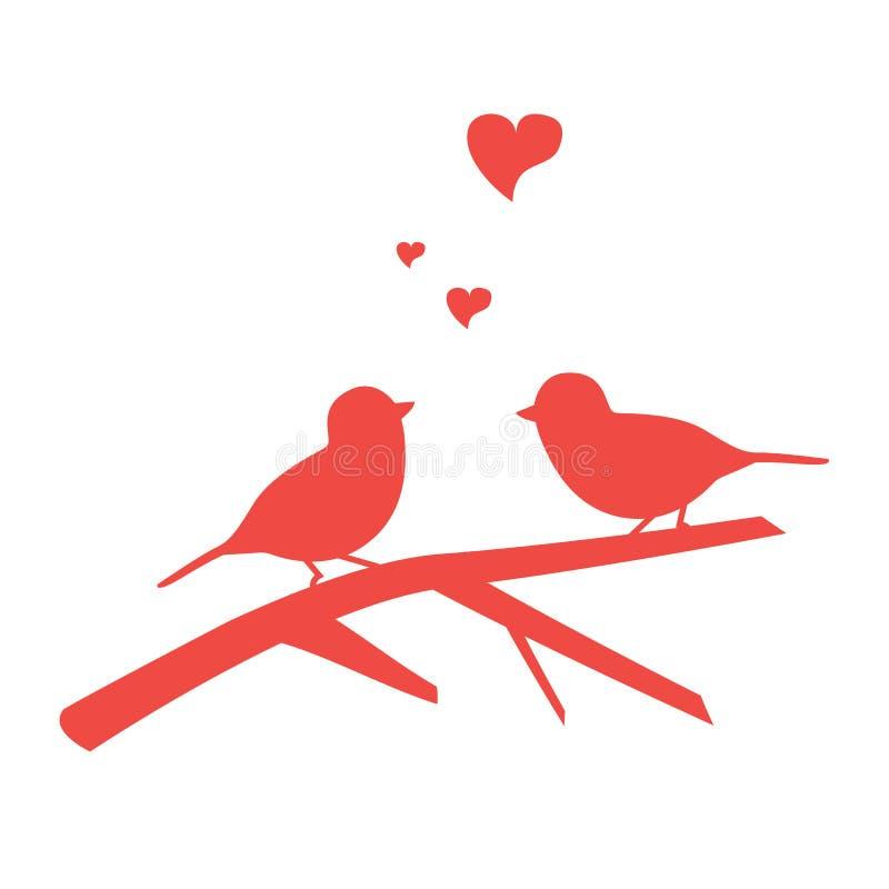 illustration of the bird on branch stock illustration