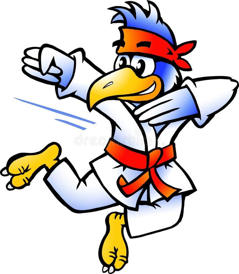 Download Illustration Of An Bird Practices Self-Defense Stock Vector - Illustration: 22079738