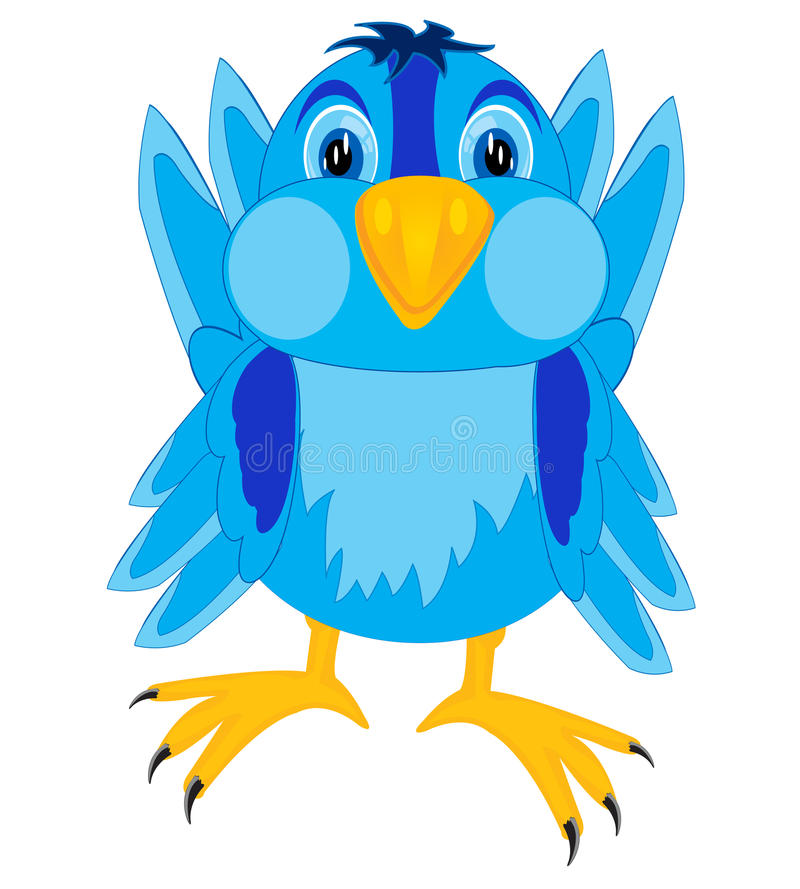 Cartoon Of The Bird Sparrow Royalty Free Stock Photo