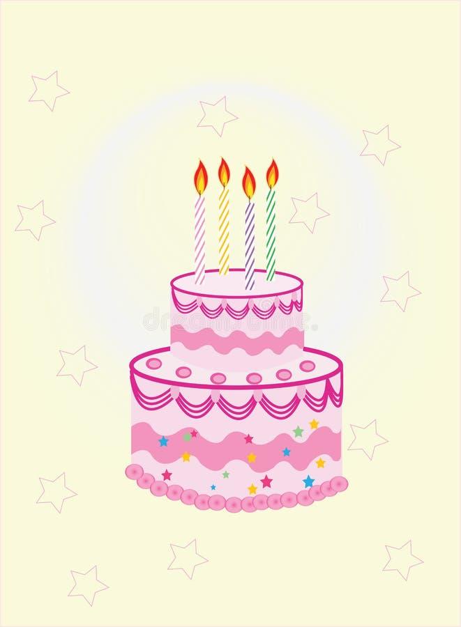 Download Birthday cake stock vector. Image of invitation, cake - 30054929