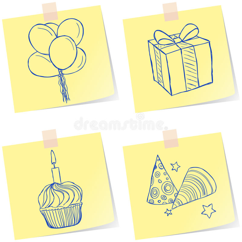Download Birthday Party Sketches Royalty Free Stock Photography - Image: 30289557