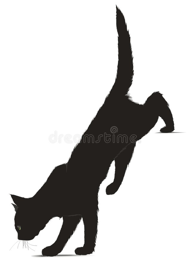 Illustration of black cat stock photo