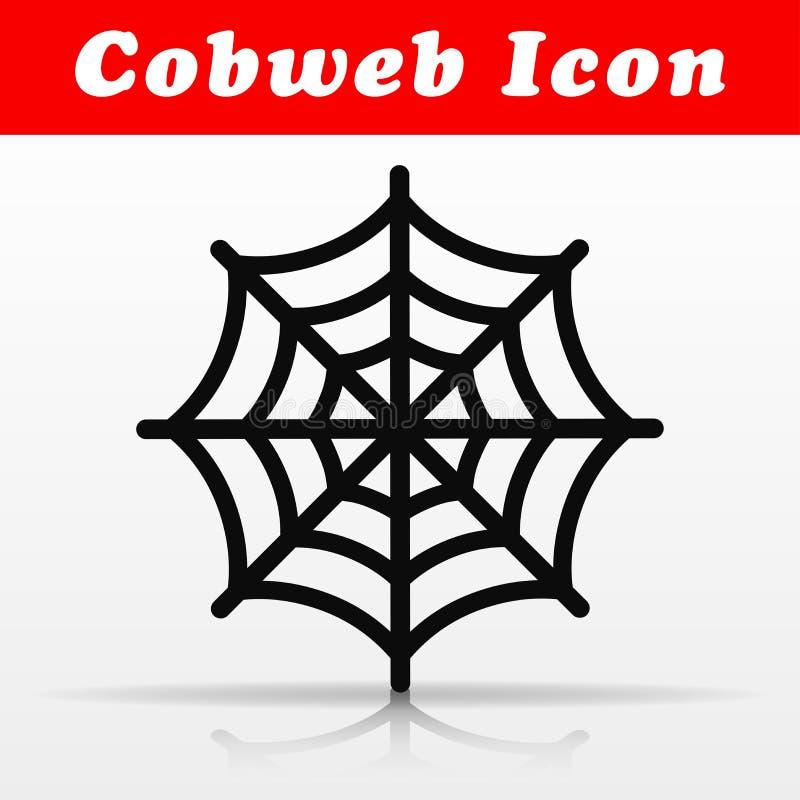 Black cobweb vector icon design royalty free illustration