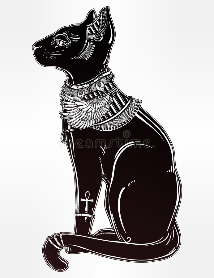 Egyptian Black Cat Symbol