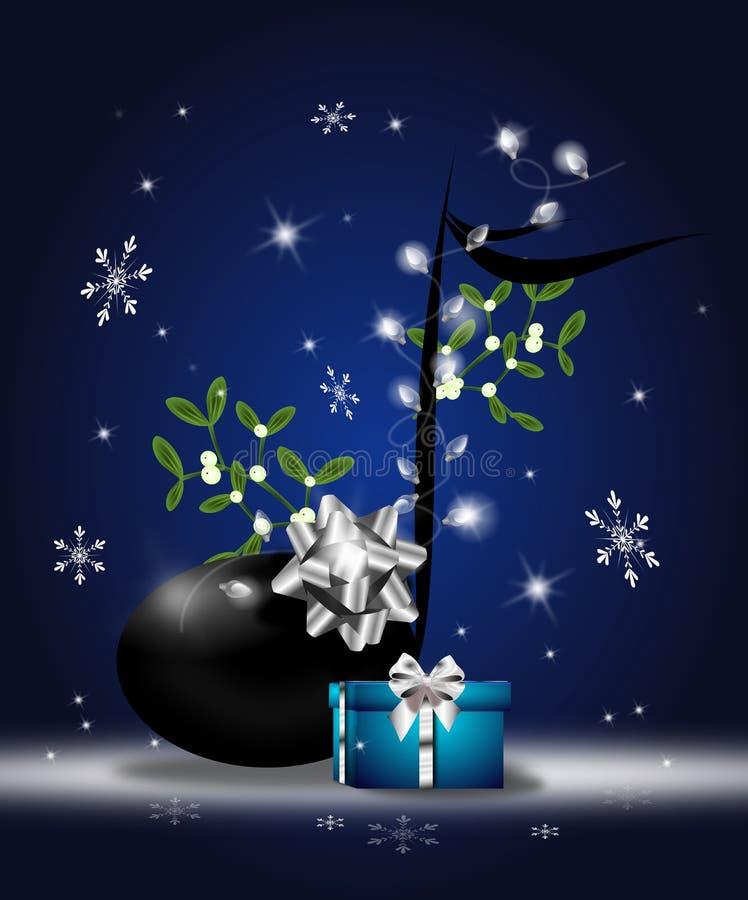 Christmas note illustration royalty free illustration