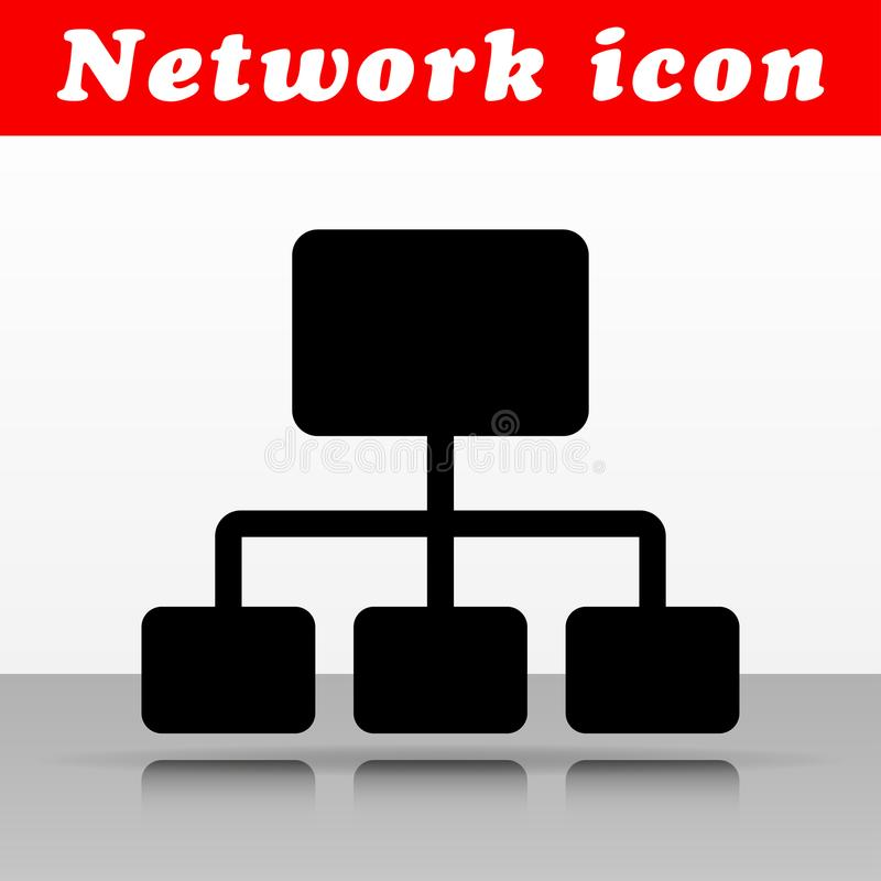 Black network vector icon design. Illustration of black network vector icon design royalty free illustration