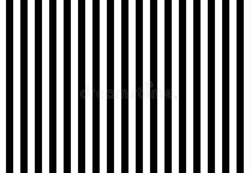 Illustration of black and white stripes, used for background. Line, fabric, blanket, repeat, wrapping, print, design, creative, new, art, wall, graphic, simple stock image