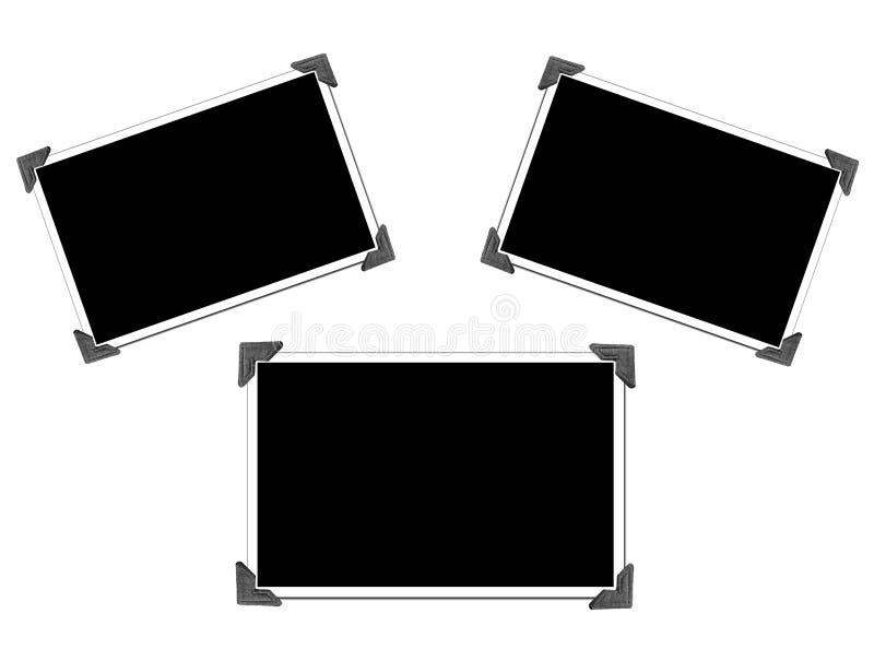 Illustration blanc avec des coins de photo illustration de vecteur