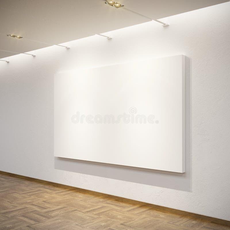 Illustration blanc dans la rampe illustration libre de droits