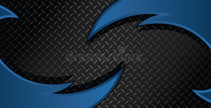 Illustration bleue de Diamond Plate Textured Vector Background de rasoir illustration libre de droits