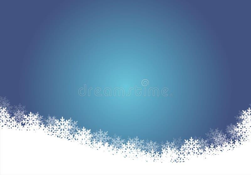 Illustration bleue de fond de Noël illustration libre de droits