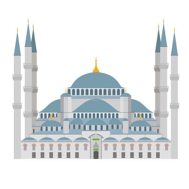 Illustration bleue de mosquée Istanbul (Turquie) illustration libre de droits