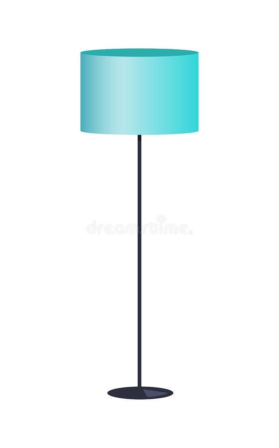 Illustration bleue de vecteur de couleur de lampe intérieure d'article illustration de vecteur