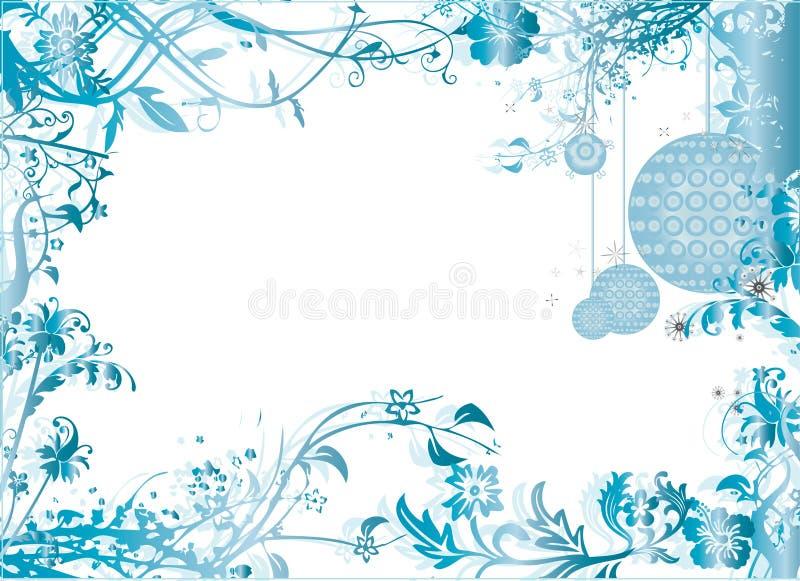 Illustration bleue de vecteur de configuration de trame de Noël illustration stock