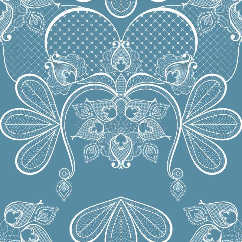 Illustration bleue de vecteur de dentelle pour la décoration de carte de vintage, seaml illustration de vecteur