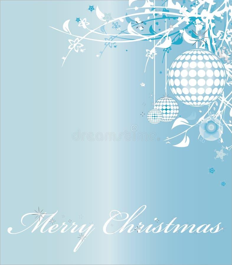 Illustration bleue de vecteur de Joyeux Noël illustration libre de droits
