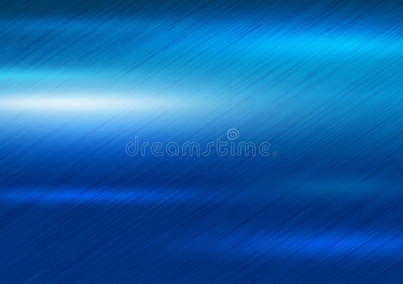 Illustration bleue de vecteur de fond de texture en métal illustration stock