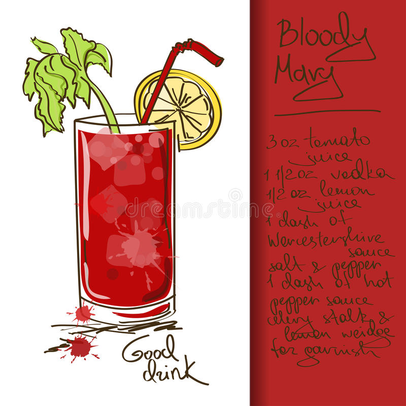 Download Illustration With Bloody Mary Cocktail Stock Vector - Image: 33698705