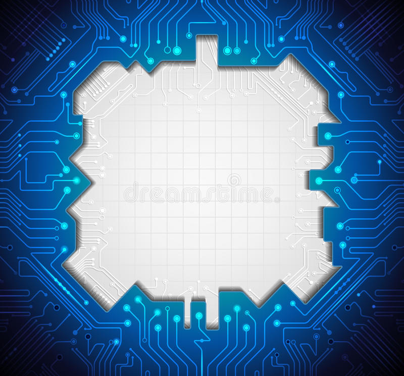 Illustration Blue Abstract Technology Circuit Background Stock Photo ...