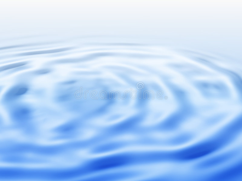 Illustration of blue water ripple royalty free stock photo