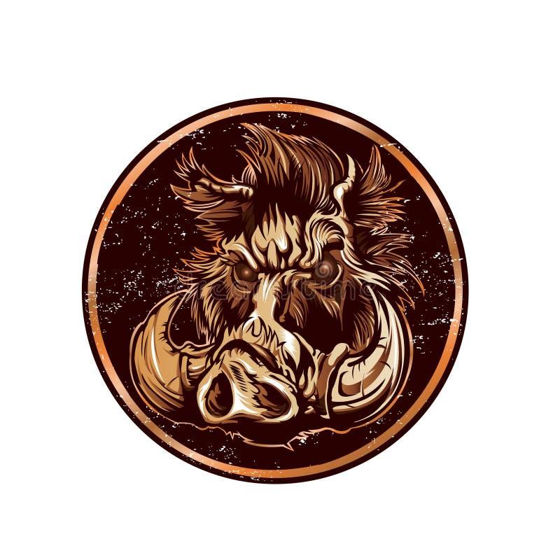 Illustration of a Boar. Vector illustration royalty free illustration