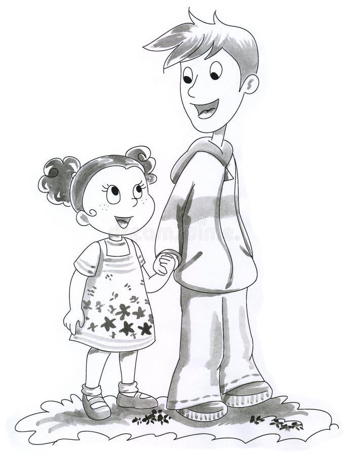 Download Illustration Of Boy And Girl Stock Illustration - Image: 2603735