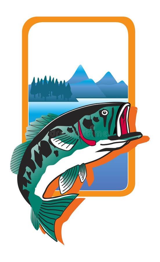 Illustration branchante de poissons illustration de vecteur