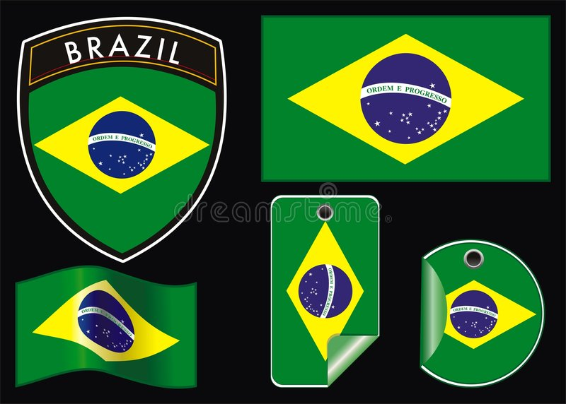 Download Illustration Of Brazil  Flag Stock Vector - Image: 7108441