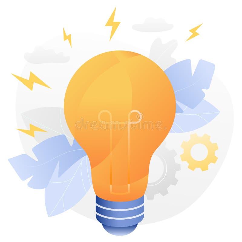 Illustration brillante de vecteur d'ampoule illustration de vecteur