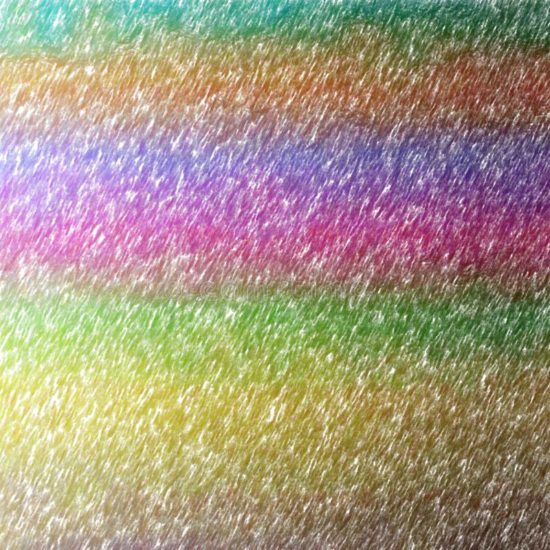 Illustration of brown, green, magenta, blue and orange abstract color pencil square background. vector illustration
