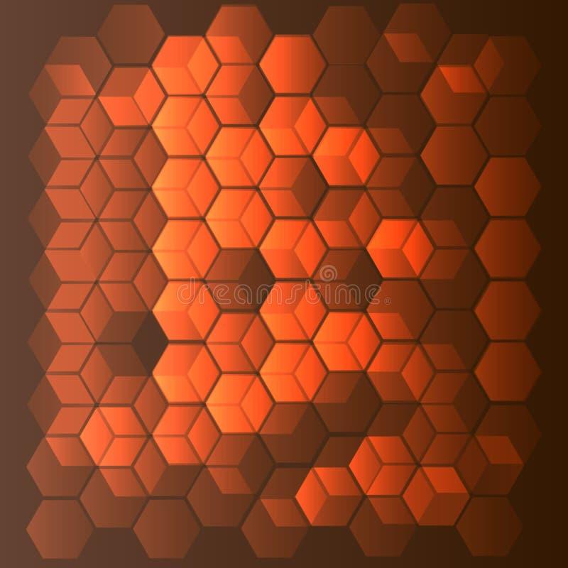 Illustration brune abstraite de texture de polygone de vecteur de fond illustration stock