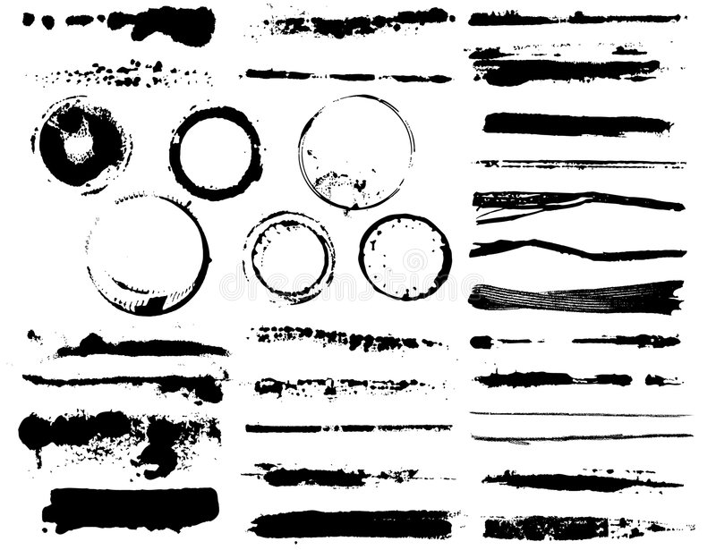 Illustration Brushes and coffee mark royalty free stock photography