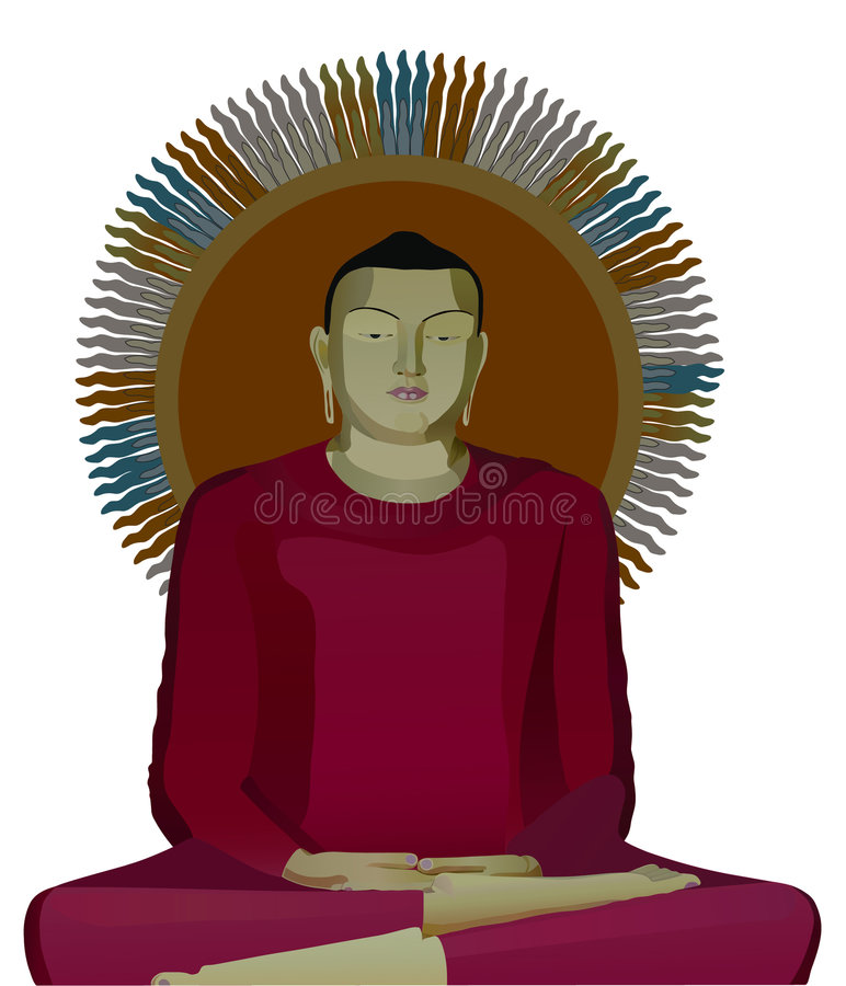 Illustration of buddha vector illustration