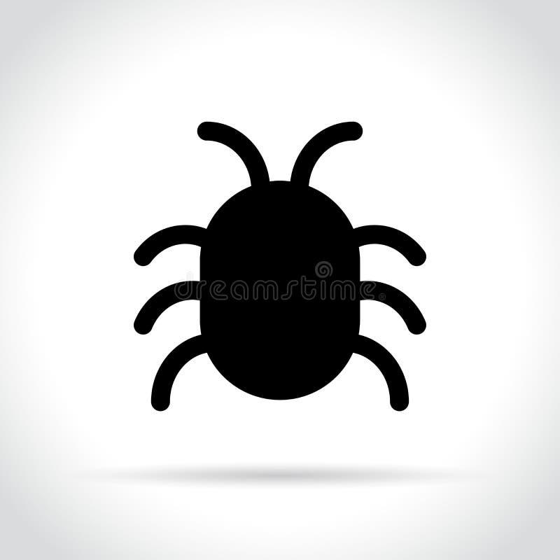 Bug icon on white background royalty free illustration