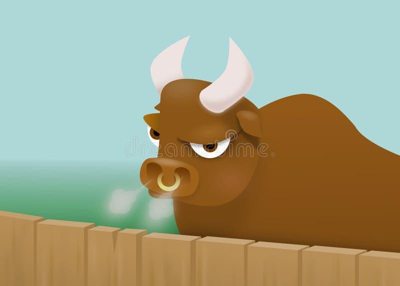 Bull cartoon royalty free stock image