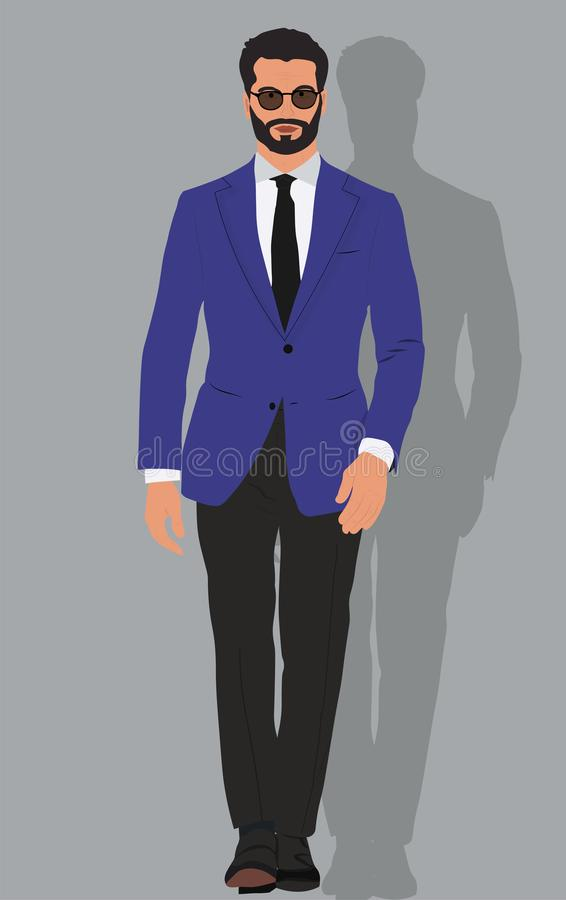 Illustration_business_man stock photography