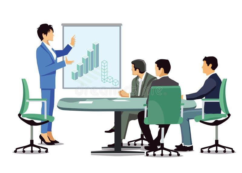 Business meeting presentation vector illustration