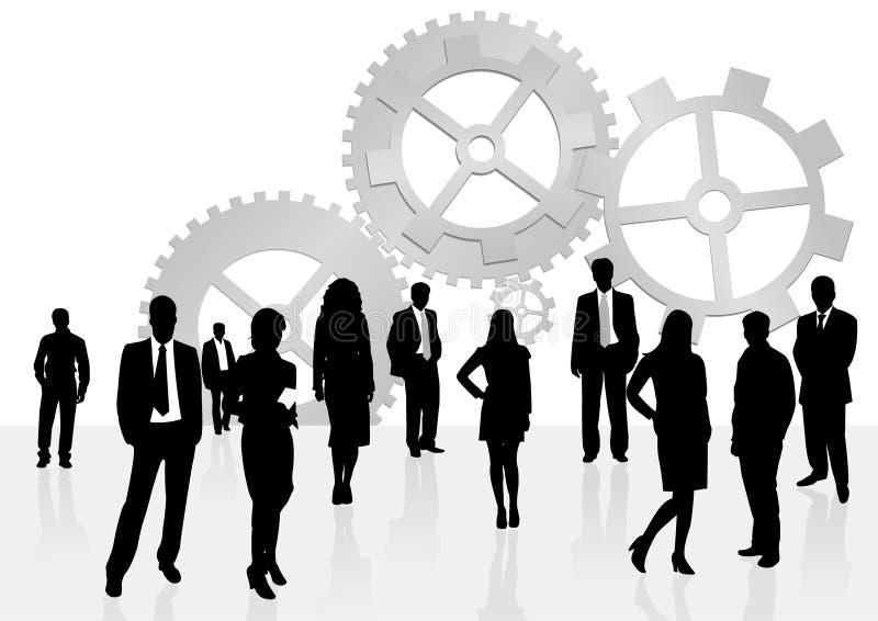 Illustration of business men and women royalty free illustration