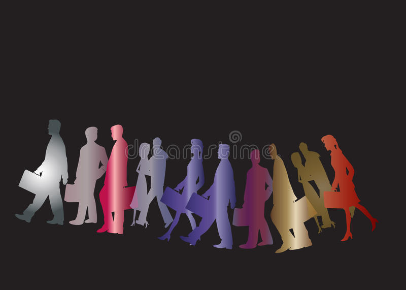 Download Business People Silhouettes Stock Illustration - Illustration: 30097814