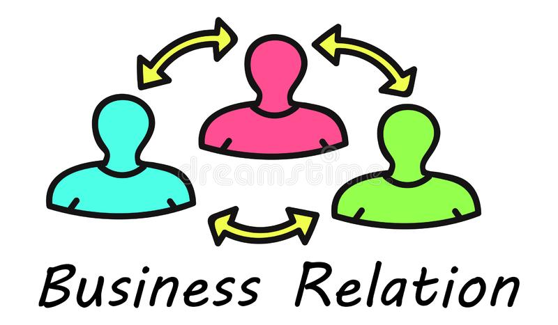 Concept of business relation. Illustration of a business relation concept stock illustration