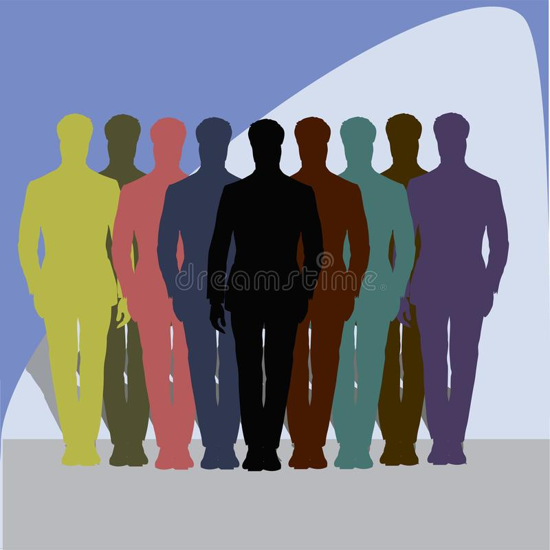 Illustration_business team_leader stock image