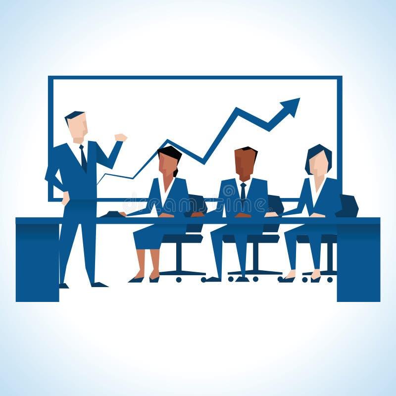 Download Illustration Of Businessman Addressing Board Meeting Stock Illustration - Illustration of male, cartoon: 74556083