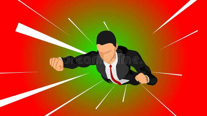 Illustration of a businessman royalty free illustration