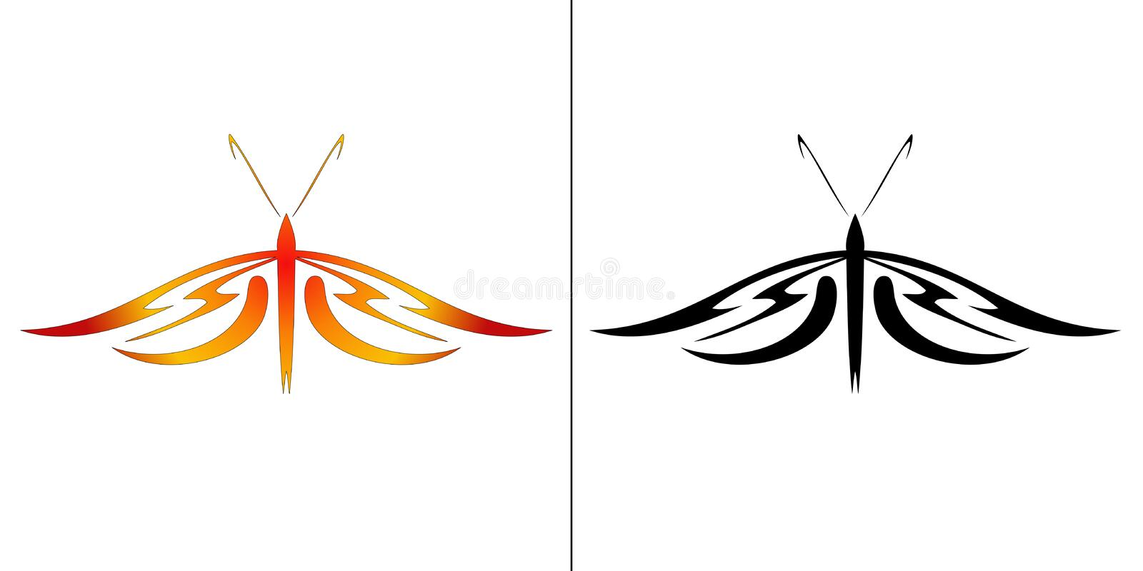 Download Illustration of butterfly stock vector. Image of painting - 10949246