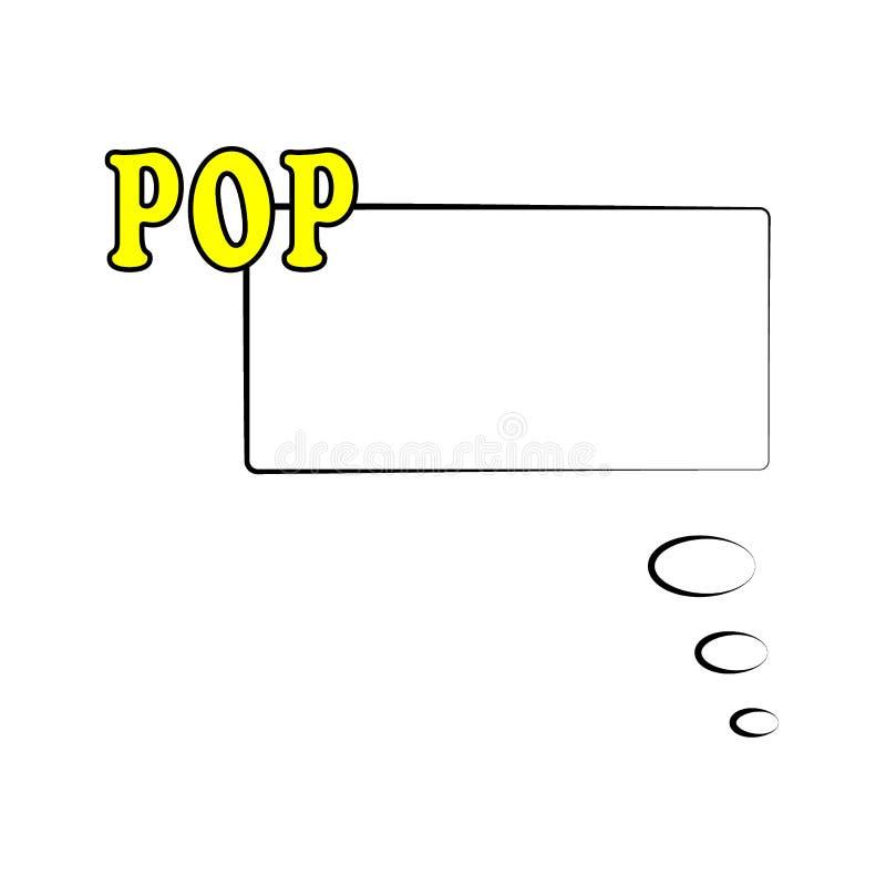 Illustration Calibre de vue dans le style comique d'art de bruit d'isolement sur le fond blanc Discours comique de bulle avec le  illustration stock