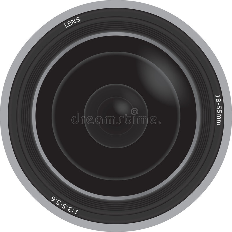 Illustration of a Camera Lens royalty free illustration