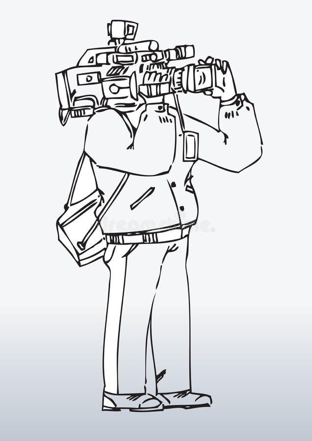 Illustration Of Camera Man Stock Images
