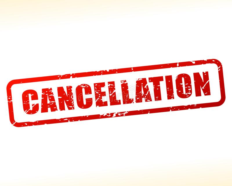 Cancellation text buffered. Illustration of cancellation text buffered on white background vector illustration