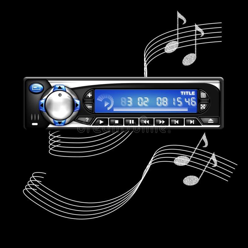Illustration of a car radio vector illustration